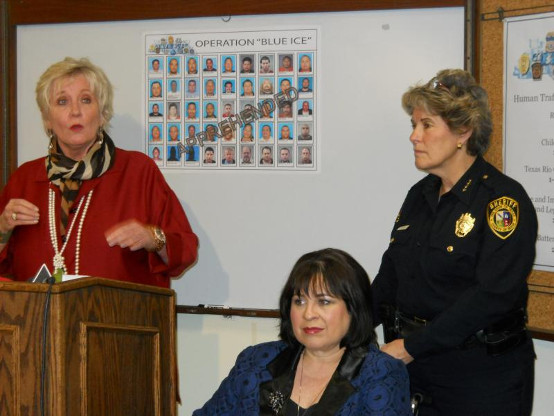 Bexar Co. Dist. Attorney Susan Reed, State Sen. Leticia Van de Putte, and Bexar Co. Sheriff Susan Pamerleau