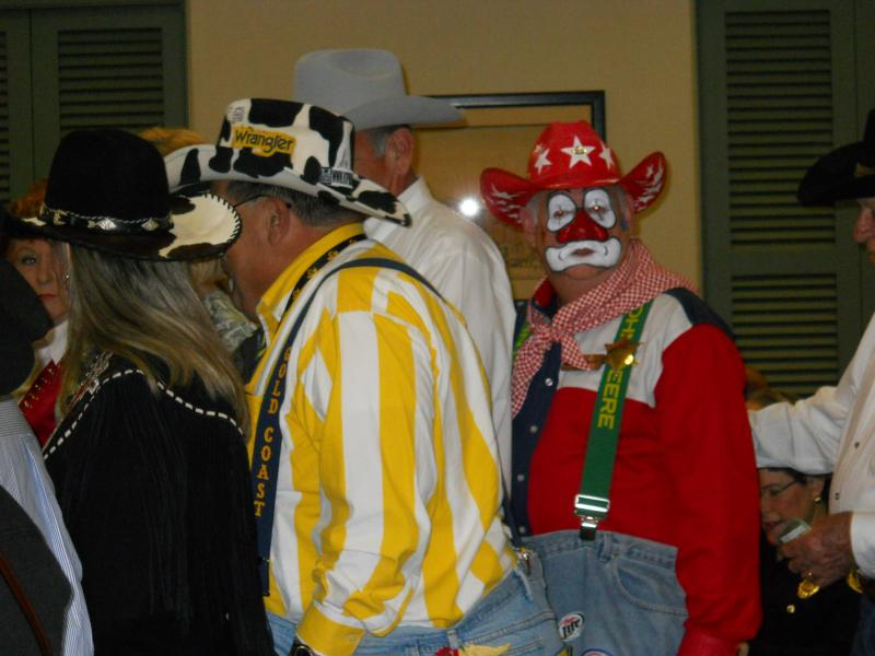 Rodeo clowns at Bexar County Commissioners Court Tuesday, Jan. 29.