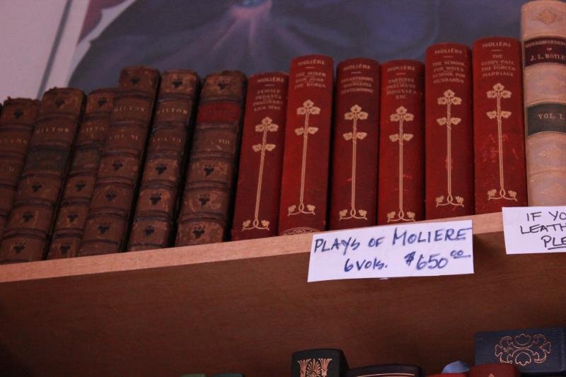 At the top shelf in the front room of Cheever are six hardback volumes of Moliere's plays.