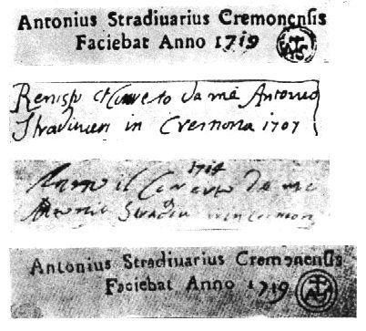 Stradivarius labels