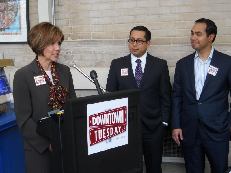 Mayor Julián Castro and Councilman Diego Bernal Join City Manager Sheryl Sculley at Hotel Havana.