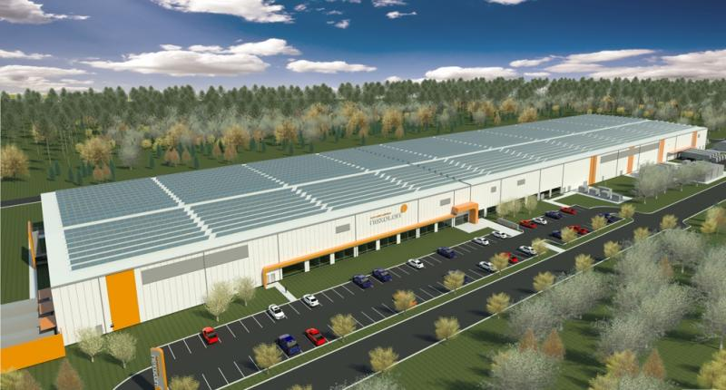 Artist rendering of the Nexolon solar panel plant.
