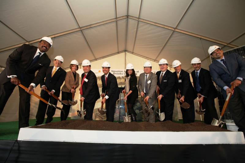 San Antonio city leaders joined Nexolon executives for the groundbreaking.