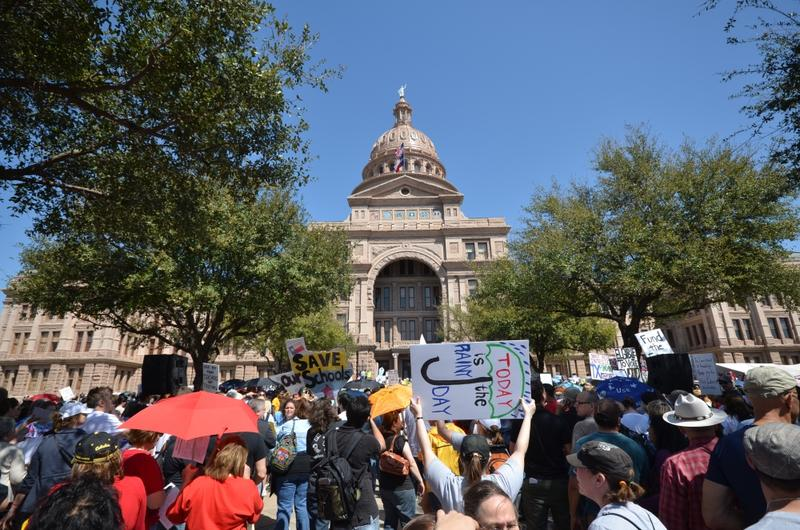 The Save Texas Schools rally on March 12, 2011, the year state legislators cut large chunks of funding to education.