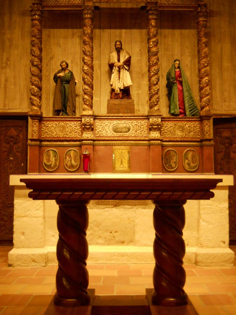 The altar from the San Fernando Cathedral was renovated and sized for use San Juan