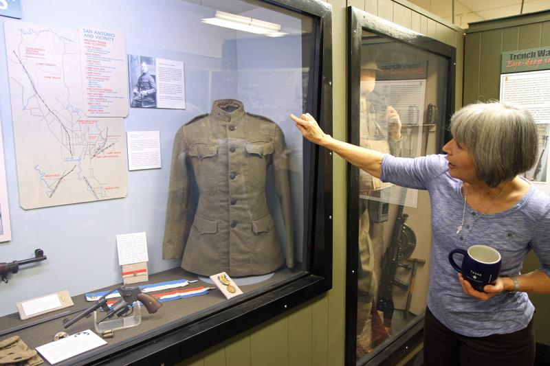 Fort Sam Houston Museum Director, Jacqueline Davis, explains howfield uniforms evolved into the Army Combat Uniform