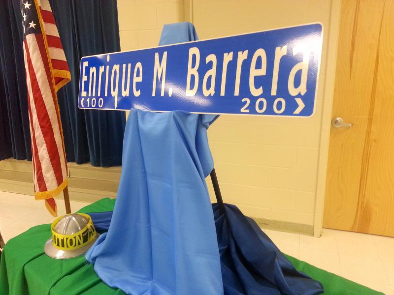Dist. 6 Councilman Ray Lopez unveiled his idea for renaming Old Highway 90 to Enrique Barrera