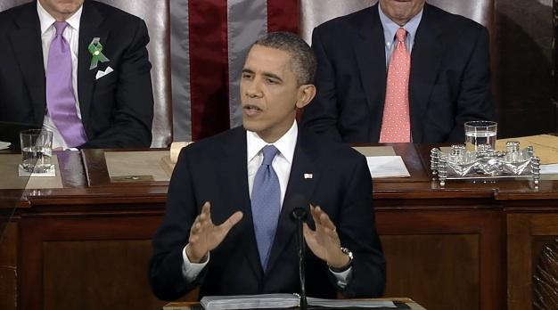 The president's State of the Union Address in February 2013.