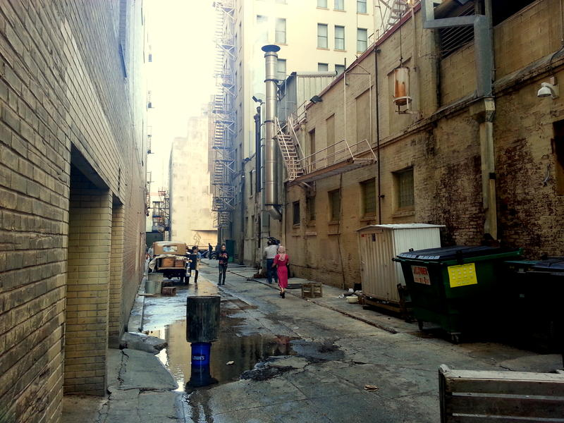 Peacock Alley, near Houston and Navarro, is where Robert Brink's film crew wrapped up a six day shoot in San Antonio and surrounding areas.