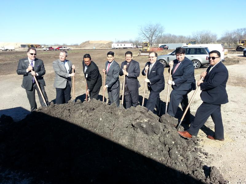 Ground breaking for the new Walmart on the city's South Side