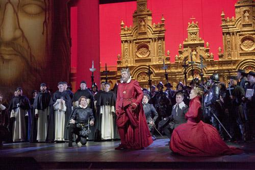 "A scene from Act III of Verdi's ""Don Carlo"""