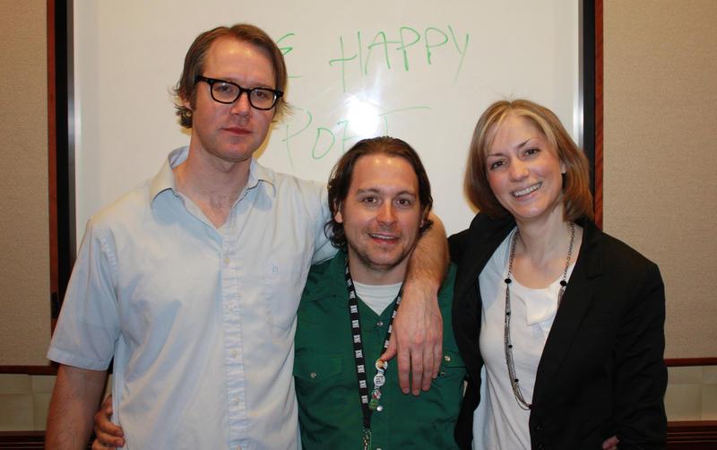 L to R: Paul Gordon, Jonny Mars, and Liz Fisher.