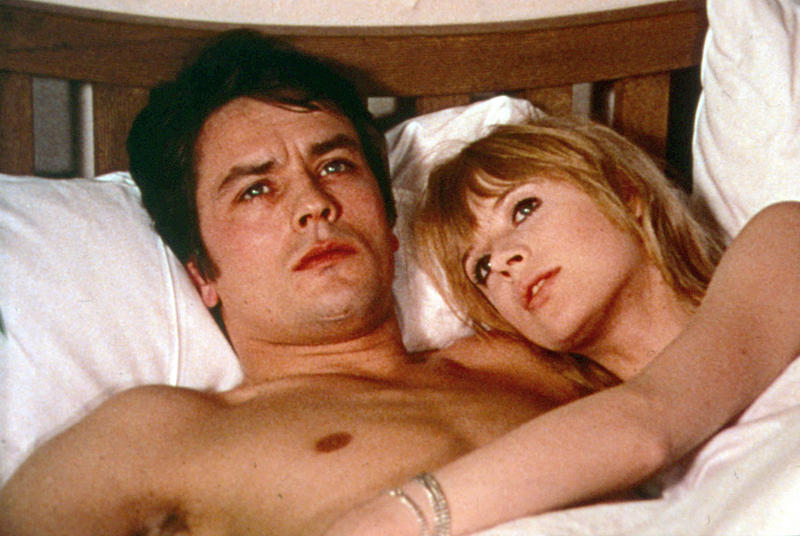 Alain Delon and Marianne Faithfull