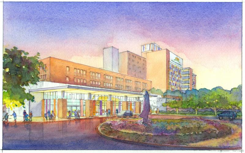 An artists rendition of the Children's Hospital of San Antonio