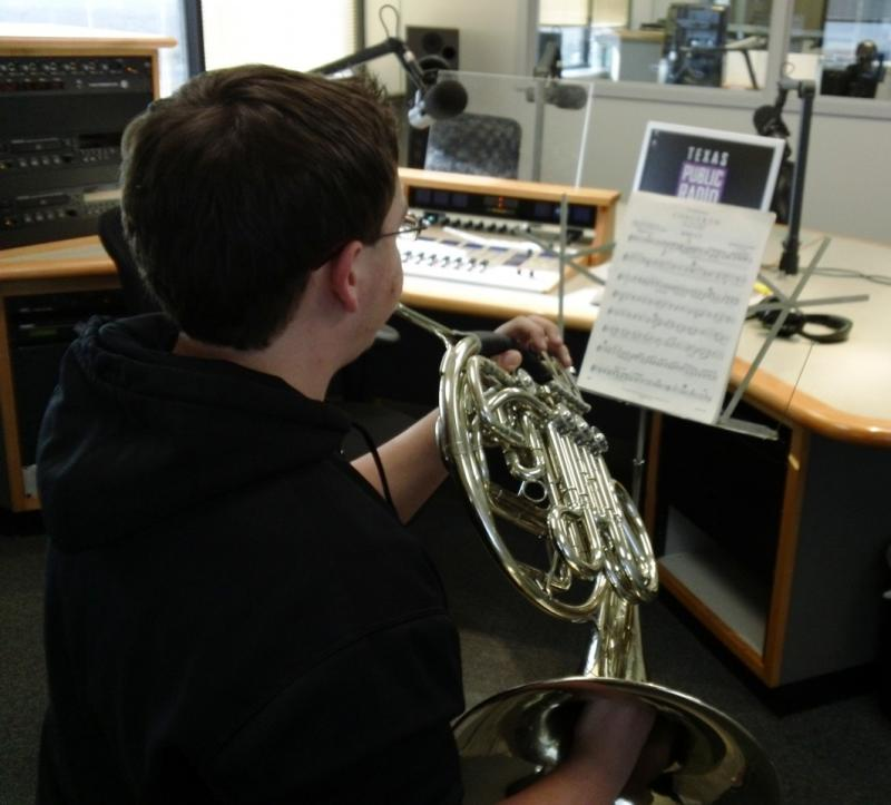 Weston McCall playing in the TPR Studios