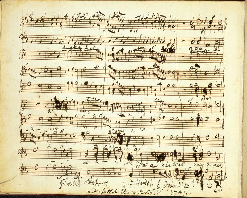 "The final page of Handel's ""Messiah"""