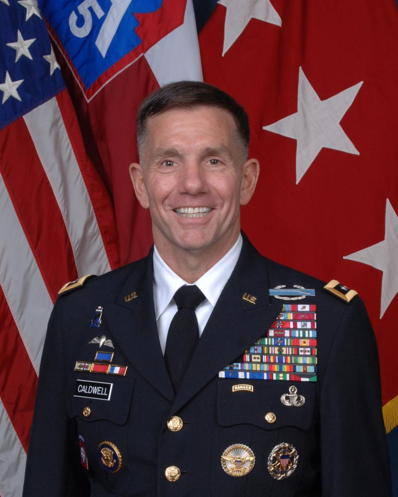 U.S. Army North (5th Army) Commander Lt. Gen. William Caldwell IV, Joint Base San Antonio-Fort Sam Houston