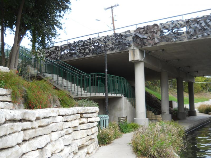 Stairs provide frequent opportunities for exercise along the San Antonio River