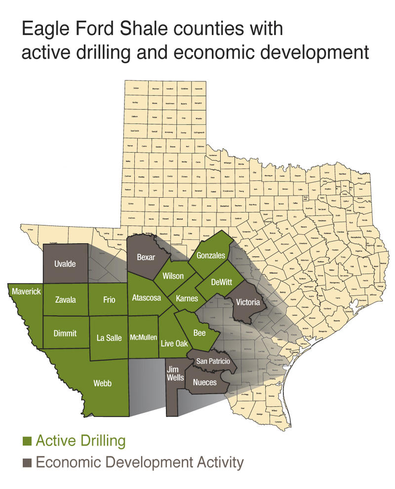 Roads in counties located in the Eagle Ford Shale area are getting heavy traffic from the oil and gas boom.