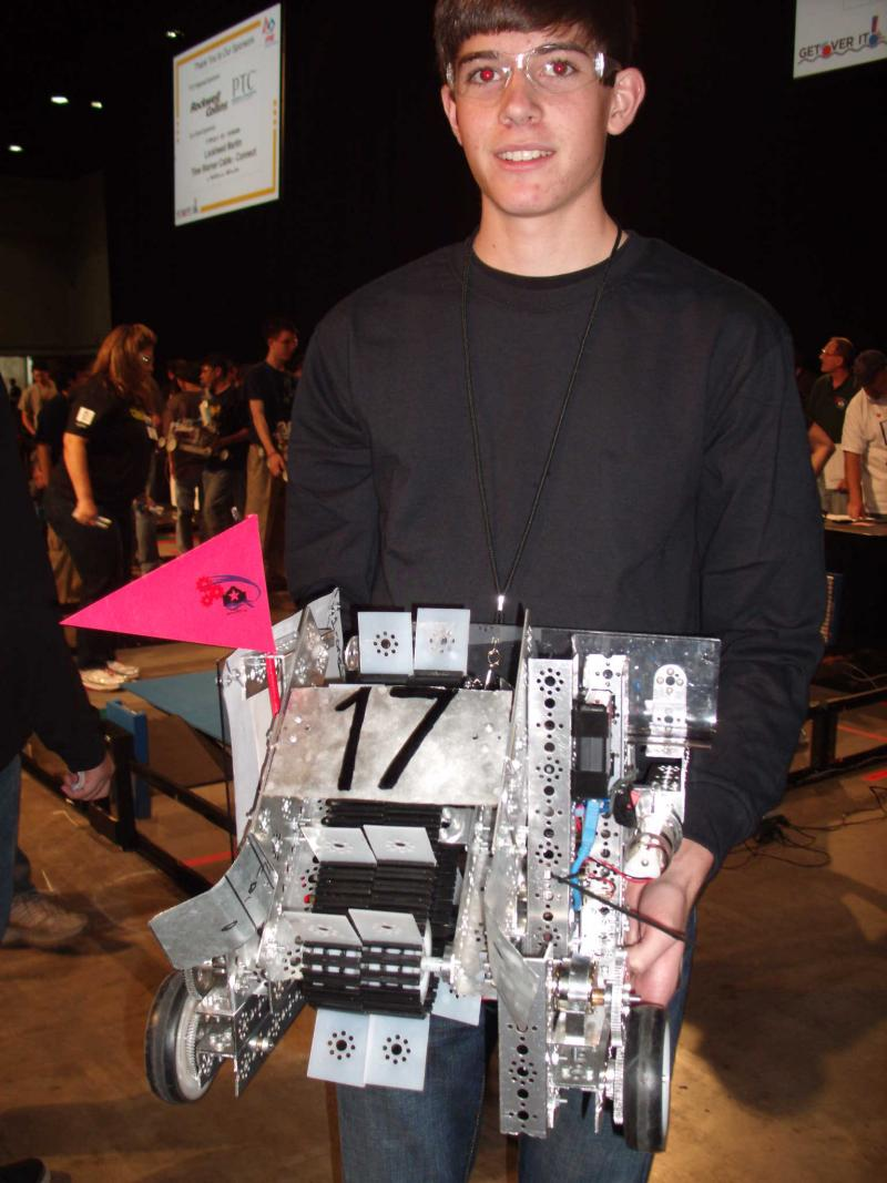 Shane Meadows, pictured at San Antonio's 1st FIRST Competition in 2011. Sen. Patrick's bill would allow high school students to graduate with specialties in STEM and other areas.