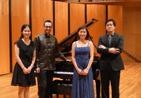 The final four contestants at the San Antonio International Piano Competition.