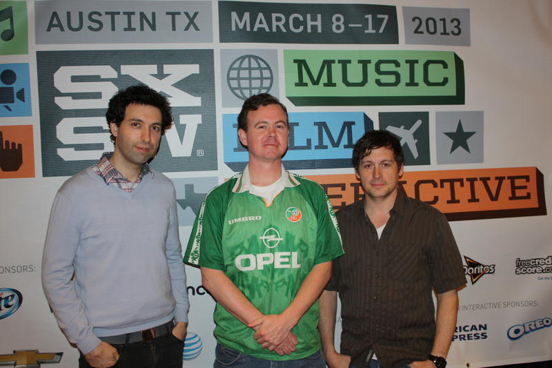 Alex Karpovsky (Jake), director Sean Gallagher, and actor/producer Jonny Mars (Winston)