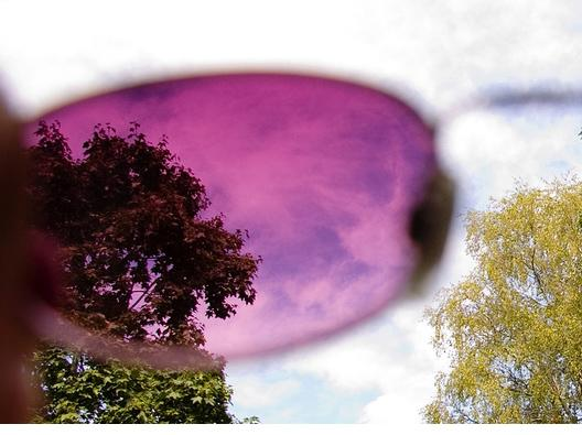 Dr. Sandra Fox said cataract patients often do better with amber or pink-colored sunglasses.