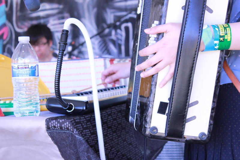 An accordian, xylophone, and melodica add subtle texture to Shugo's arrangements.