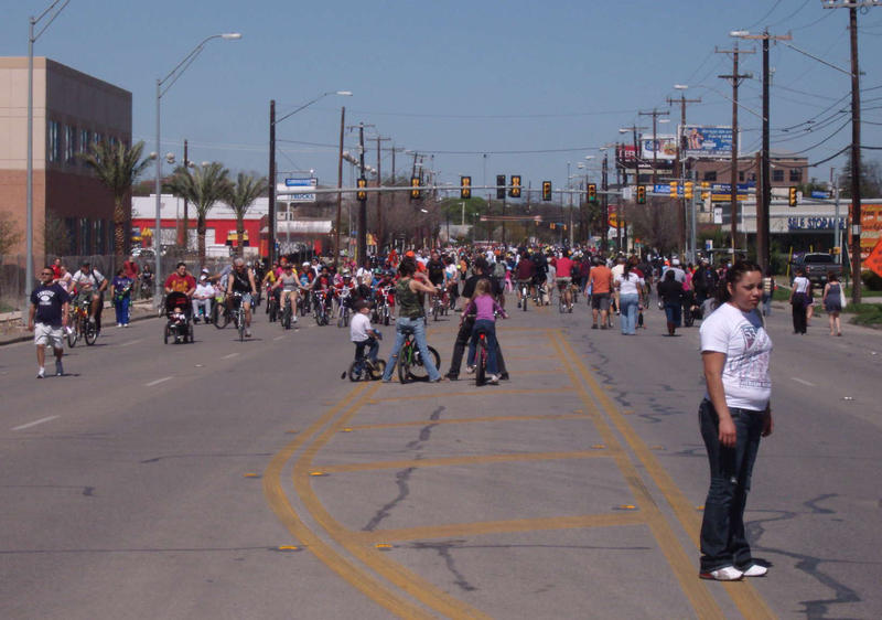 Broadway is in the midst of revitalization and events like Síclovía get residents out to enjoy the downtown area.