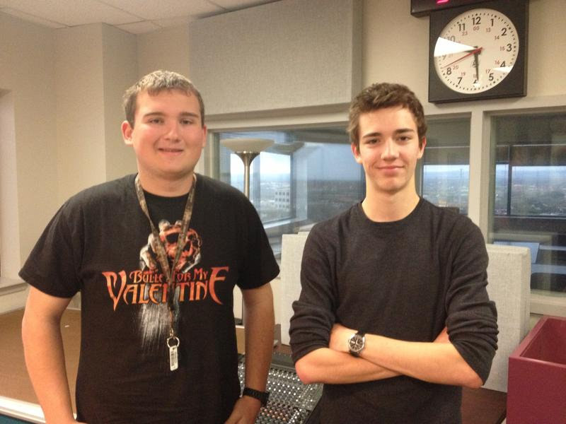 O'Connor High students Kyle Curtis (left) and Jonathan Munoz (right).
