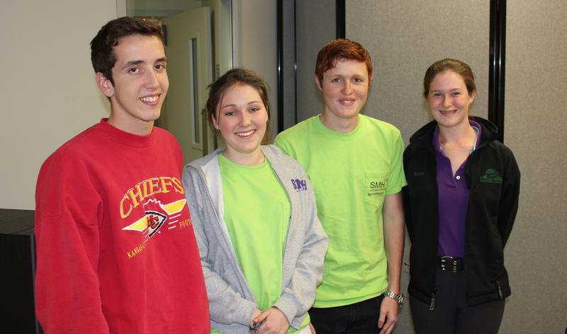 St. Mary's Hall student filmmakers (from L to R) Ethan Ausburn, Katharine Clement, Aiden Anders and Callan Harrison.
