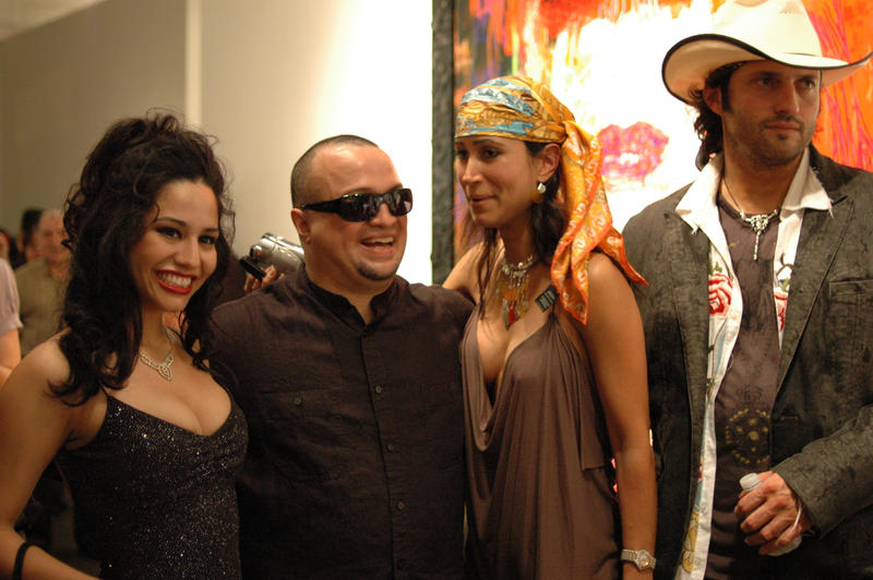 George Yepes and Robert Rodriguez, flanked by some... good friends.