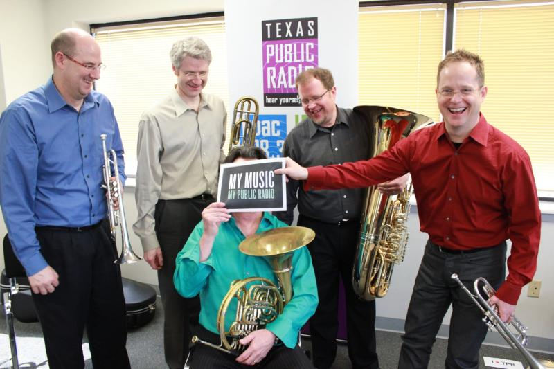 Uptown Brass visiting for Public Radio Music Month