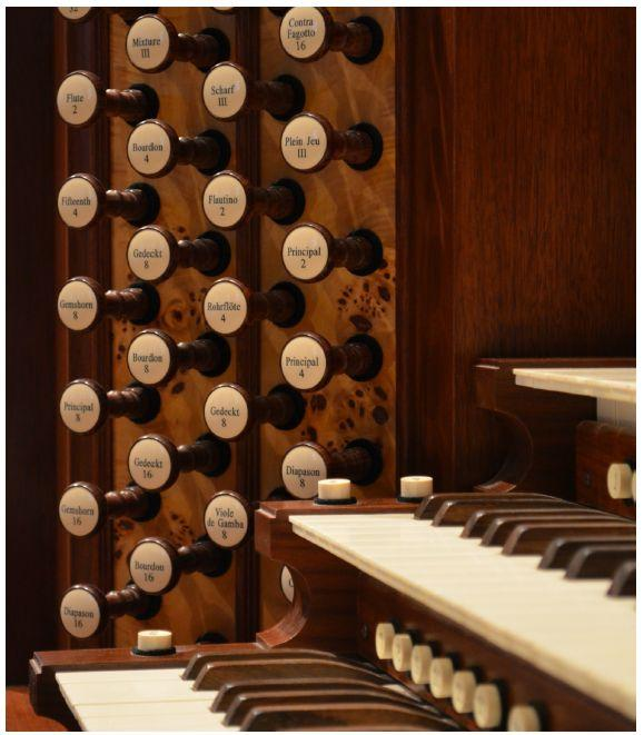 The organ at St. Mark's Episcopal Church