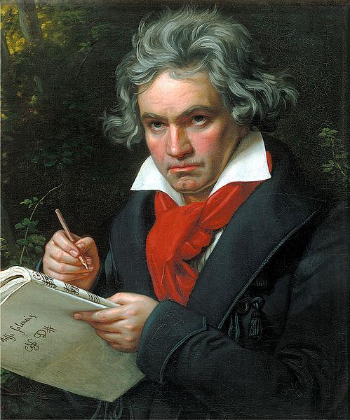 1820 portrait of Beethoven done by Joseph Karl Stieler.