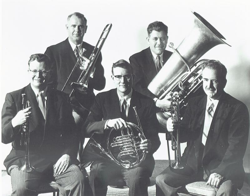 Chicago Symphony Brass Quintet, circa 1957 (Herseth front row left)