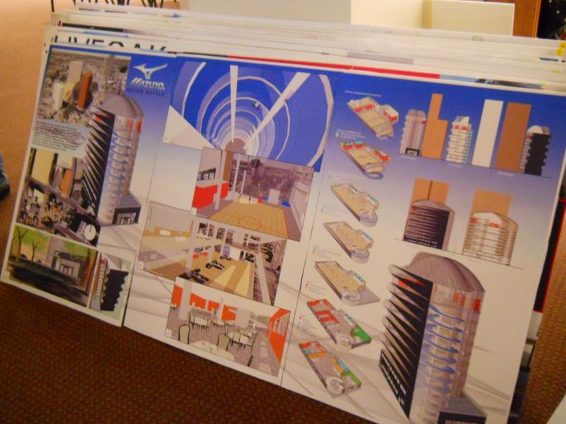 Students presented renderings explaining their concepts along with their scale designs
