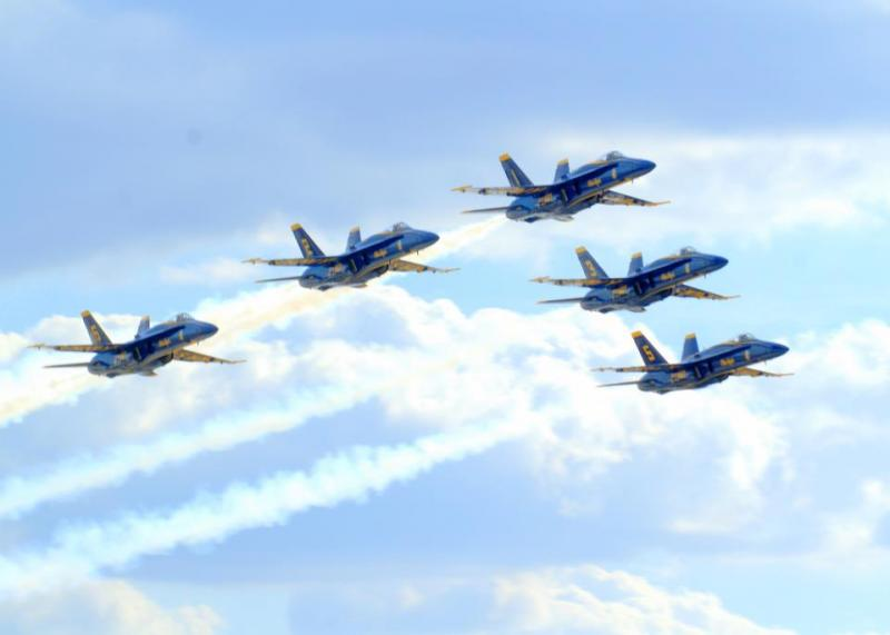 Blue Angels over Lackland AFB