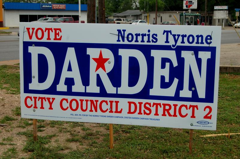 Norris Tyrone Darden is challenging incumbent Ivy Taylor for her seat.