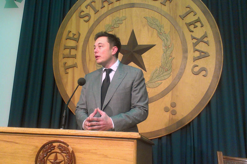 Elon Musk at the state capitol to urge state lawmakers to open the state to his dealerships.