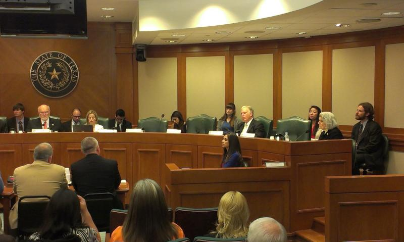 Senate Committee on Transportation hearing for the texting bill.