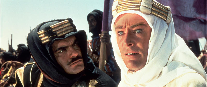 Omar Sharif and Peter O'Toole.