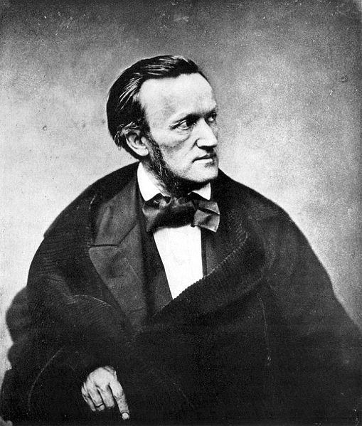 Photograph of composer Richard Wagner, Paris, 1861. Originally printed in the Galerie des hommes du jour.