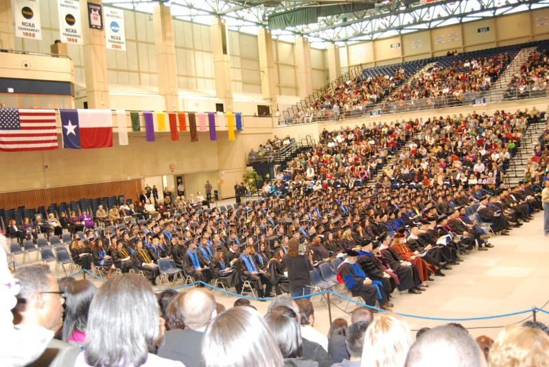 UTSA has outgrown its Convocation Center, where graduates heretofore walked the small stage at separate commencement ceremonies for each college.