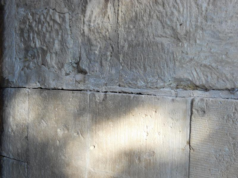 Example of German blocks hewn from quarries in the park area in the 1800s.