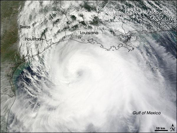 2008's Hurricane Ike off the coast of Texas.