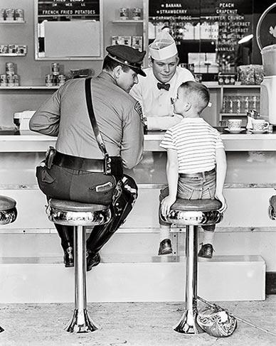 Norman Rockwell recruited Stockbridge neighbors, including state trooper Richard Clemens and 8-year-old Eddie Locke, to model for The Runaway.
