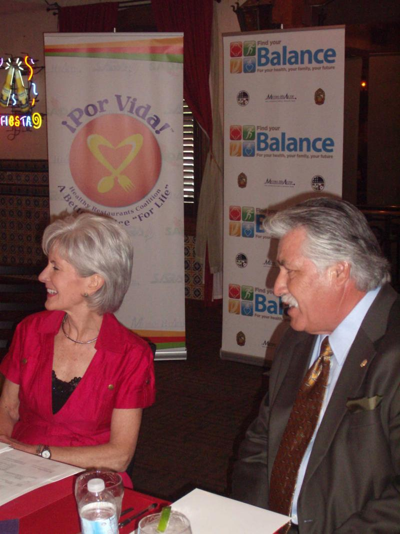 HHS Secretary Kathleen Sebelius came to San Antonio to launch Por Vida in 2010