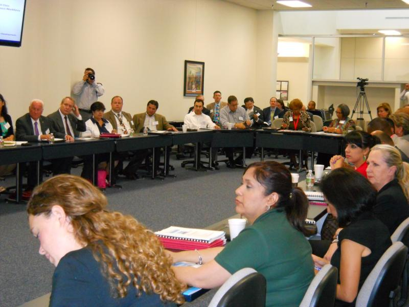 May 15, 2013-Educators meet with industry executives about getting more students into the job pipeline