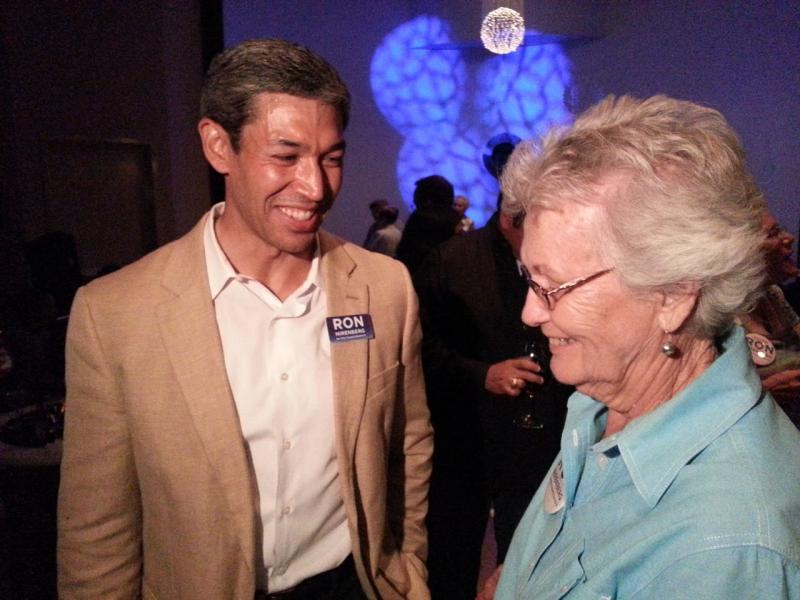 Ron Nirenberg mingles with supporters at his May 11 watch party for his bid for District 8.